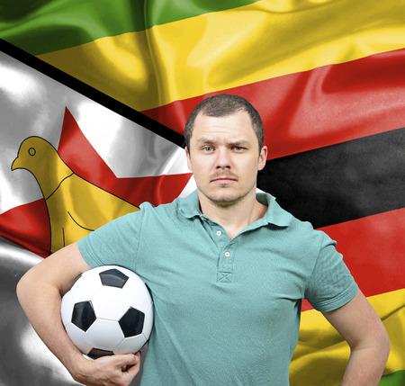 proud: Proud football fan of Zimbabwe