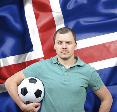 proud: Proud football fan of Iceland