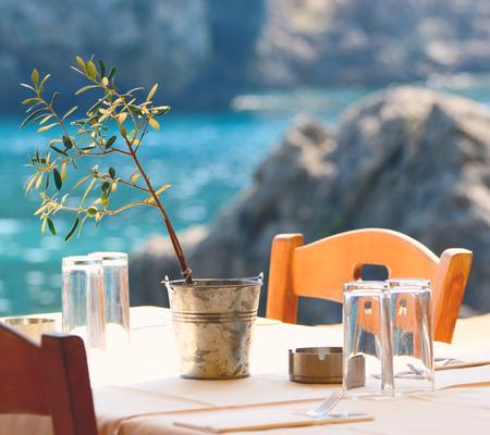 Greek tavern concept