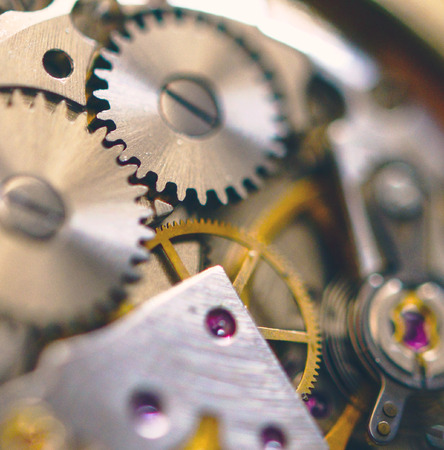 extreme macro: Extreme macro shot of watch mechanism