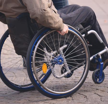 unaccessible: Man in wheelchair