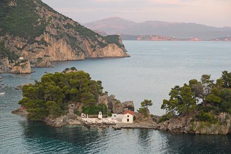 ionio: The Islet of Virgin Mary -  Parga  Greece Editorial