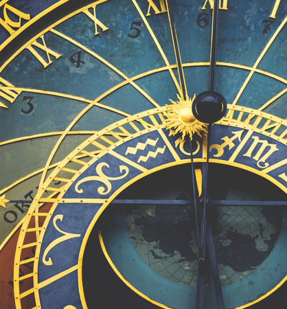 astronomical: Detail of the astronomical clock in Prague