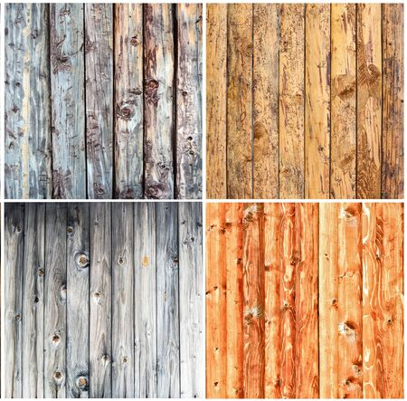 wood textures: Wood textures collage Stock Photo