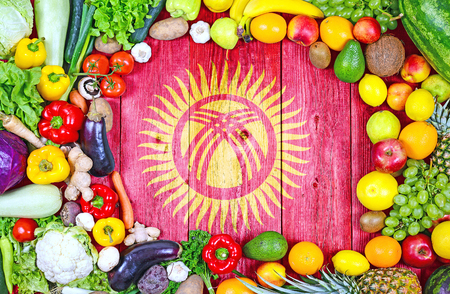 Fresh fruits and vegetables from Kyrgyzstan Banque d'images