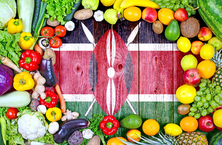 Fresh fruits and vegetables from Kenya Foto de archivo