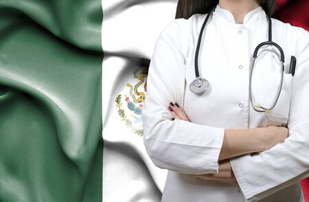 Conceptual image of national healthcare system in Mexico