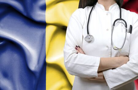 Conceptual image of national healthcare system in Romania