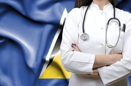 Conceptual image of national healthcare system in St Lucia