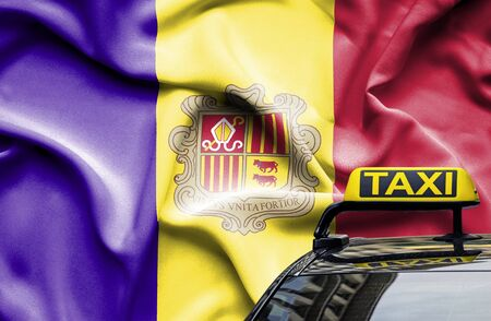 Taxi service conceptual image in country of Andorra