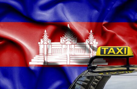 Taxi service conceptual image in country of Cambodia Zdjęcie Seryjne