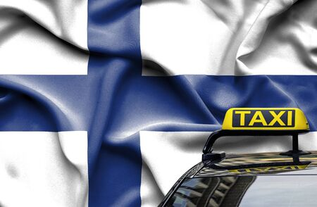 Taxi service conceptual image in country of Finland