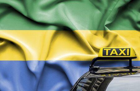 Taxi service conceptual image in country of Gabon Zdjęcie Seryjne