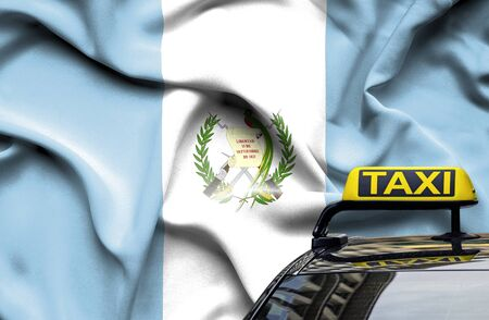 Taxi service conceptual image in country of Guatemala Zdjęcie Seryjne