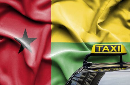 Taxi service conceptual image in country of Guinea Bissau