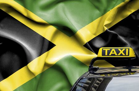 Taxi service conceptual image in country of Jamaica