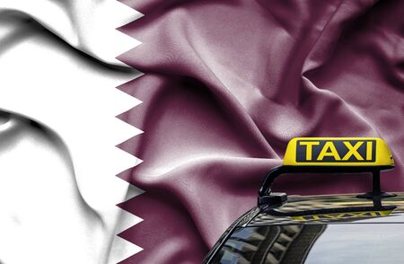 Taxi service conceptual image in country of Qatar