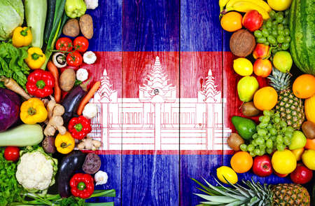 Fresh fruits and vegetables from Cambodia Stok Fotoğraf
