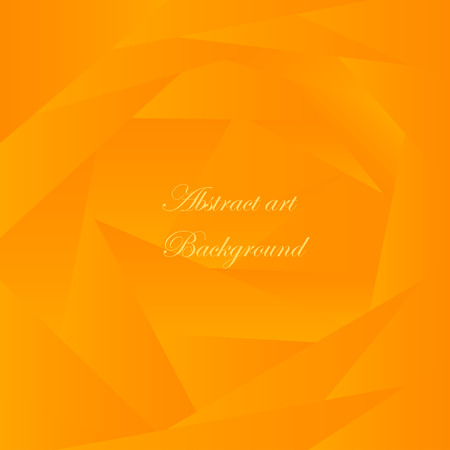 two dimensional shape: Abstract background of orange triangles