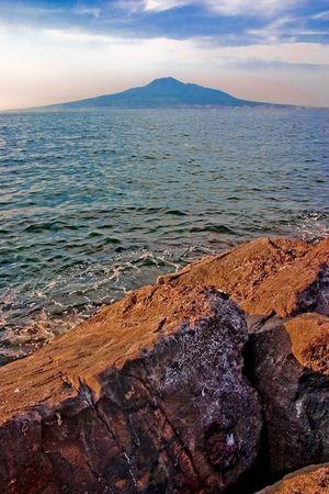 Mount Vesuvius - is a volcano east of Naples, Italy. photo