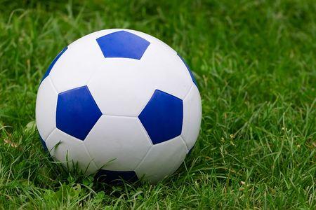 Soccer ball on green grass Stock Photo - 3370392