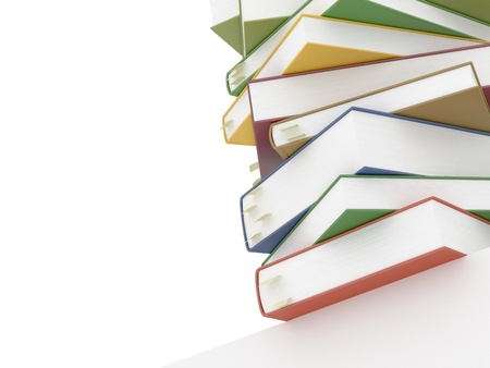 Books with bookmarks on white Stock Photo - 20754848