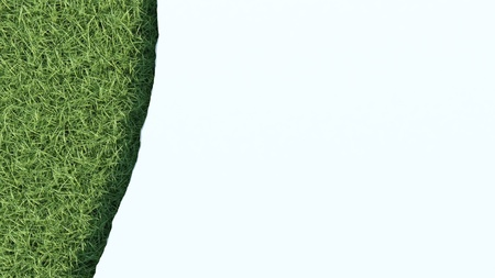 discontinuity: 3d rendered torn sheet of paper over grass field