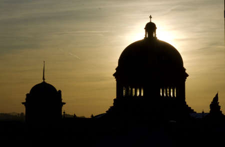 Silhouette of the Bundeshaus in Bern Banque d'images