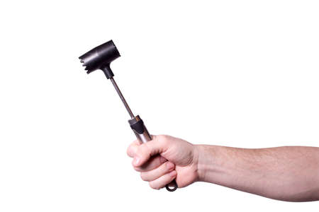 hammer for beating the meat in the hand of men
