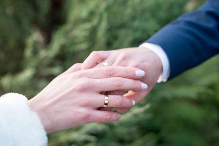 Liefde en huwelijk. Huwelijksceremonie. Stockfoto - 81045500