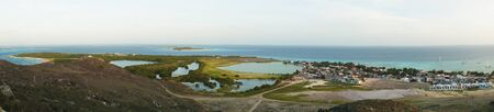 key of paradise: Panoramic of the town in Los Roques Island