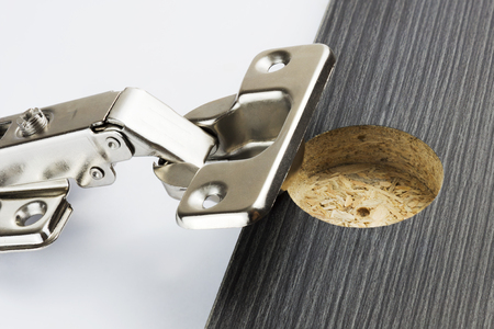 hinge: Concealed Hinge beside a hinge hole