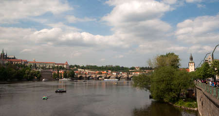 Sight of river Vltava in Prague, Czech republic Stock Photo - 18756071