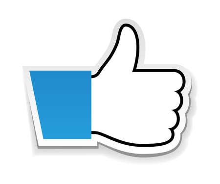 like icon: Vector illustration of Like us, thumb up