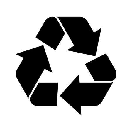 recycling plant: Vector illustration of recycle symbol