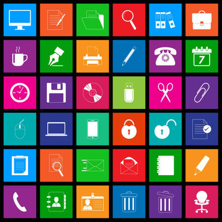 Office icon series in Metro style
