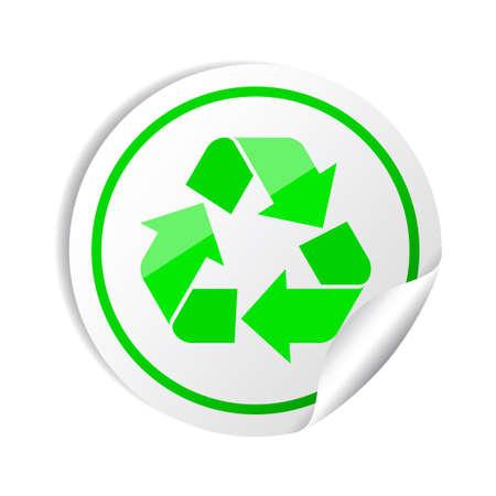 Sticker recycle symbol