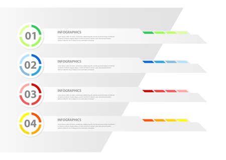 Modern Design infographic template / can be used for infographics / numbered banners / horizontal cutout lines / graphic or website layout vector