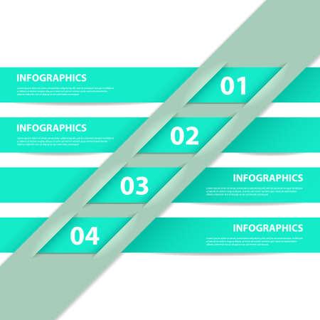 Modern Design infographic template Ilustração