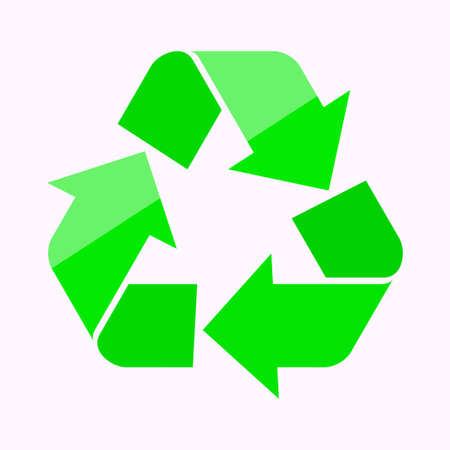 Recycle symbool op een witte achtergrond