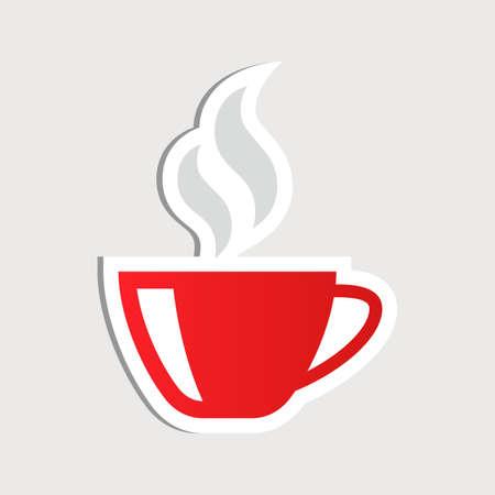 コーヒー カップのステッカー