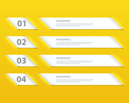 Modern Design infographic template Illustration