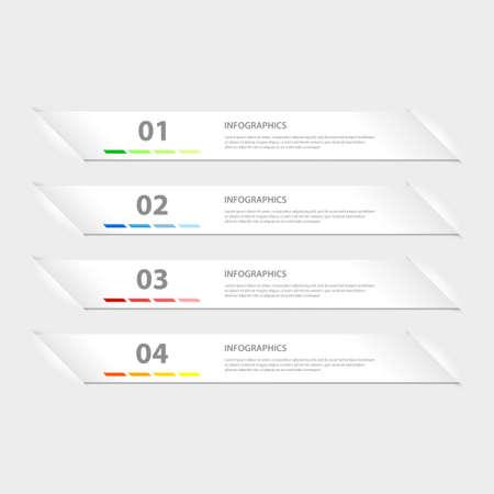 モダンなデザインのインフォ グラフィック テンプレート