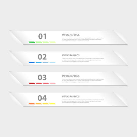 Modern Design infographics template Illustration