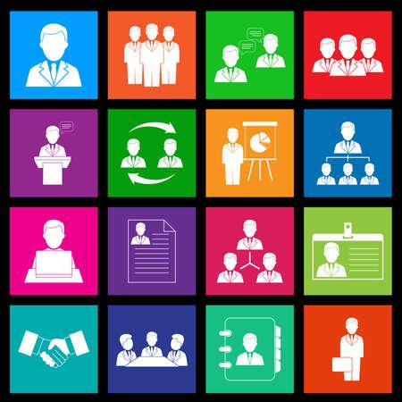 Metro iconen van Human Resources en Management Stock Illustratie