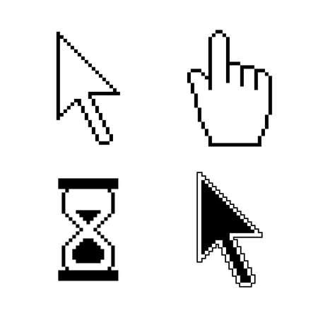 ピクセルのカーソル アイコン  イラスト・ベクター素材