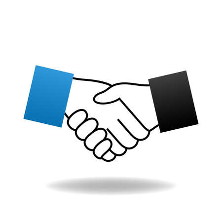 Vector handshake icon Ilustração