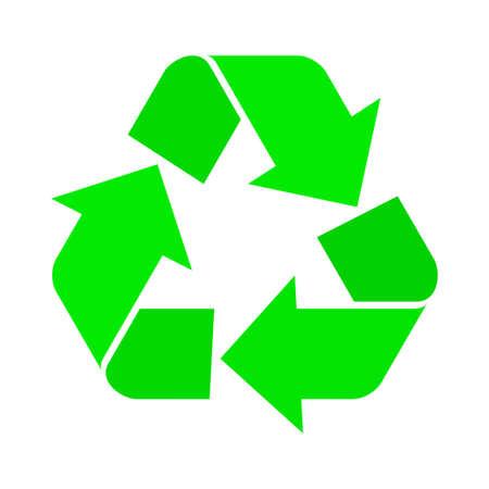 Vector illustratie van recycle symbool