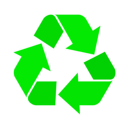 Vector illustration of recycle symbol