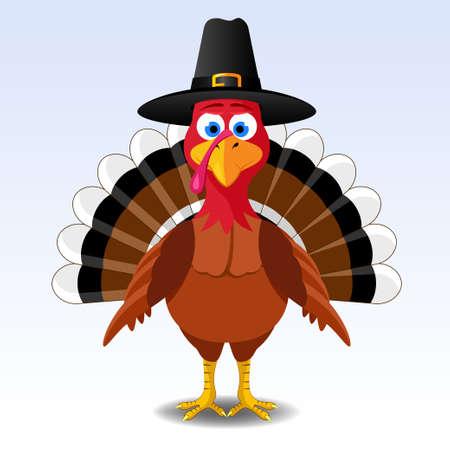感謝祭の七面鳥  イラスト・ベクター素材